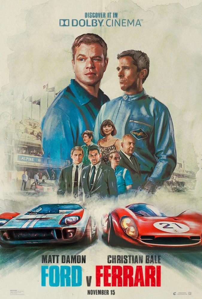 Asfaltın Kralları Ford v Ferrari Film Posteri, Film Posteri, Poster Satış, all posters, kanvas tablo, canvas print sales
