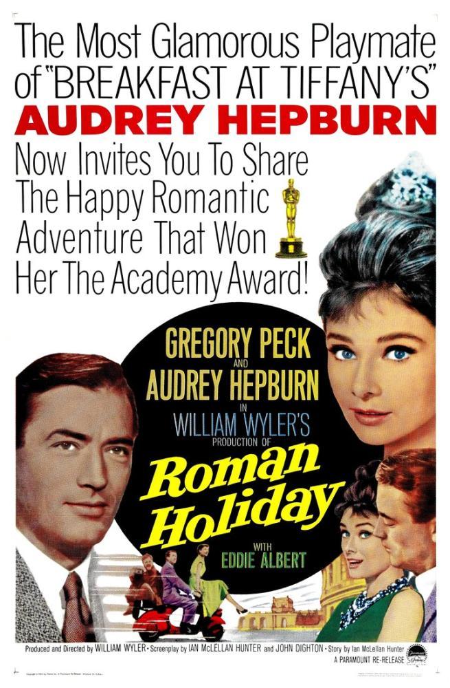 Roman Holiday Movie Poster, Movie Poster, Poster Satış, all posters, kanvas tablo, canvas print sales