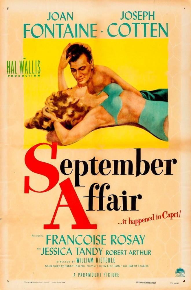 September Affair Film Posteri, Film Posteri, Poster Satış, all posters, kanvas tablo, canvas print sales