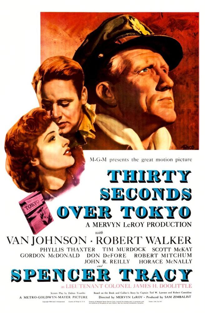 Thirty Seconds Over Tokyo Film Posteri, Film Posteri, Poster Satış, all posters, kanvas tablo, canvas print sales