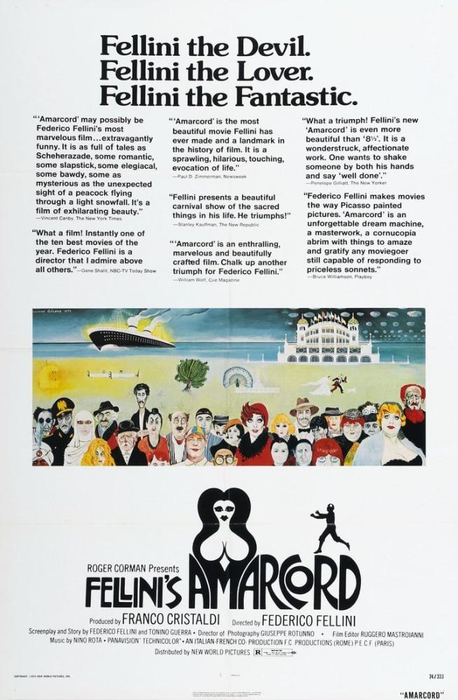 Amarcord Movie Poster, Movie Poster, Poster Satış, all posters, kanvas tablo, canvas print sales