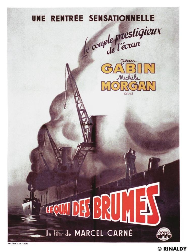 Le Quai des brumes Movie Poster, Movie Poster, Poster Satış, all posters, kanvas tablo, canvas print sales