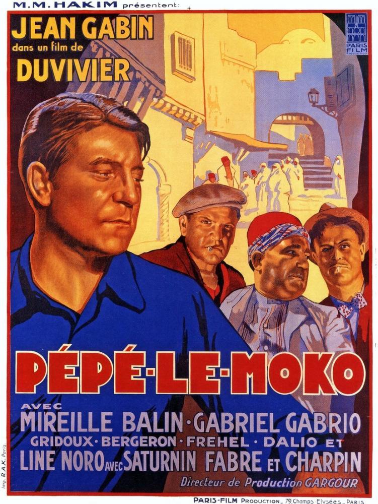 Pépé le Moko Film Posteri, Film Posteri, Poster Satış, all posters, kanvas tablo, canvas print sales