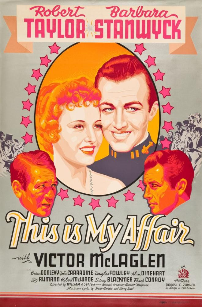 This Is My Affair Movie Poster, Movie Poster, Poster Satış, all posters, kanvas tablo, canvas print sales