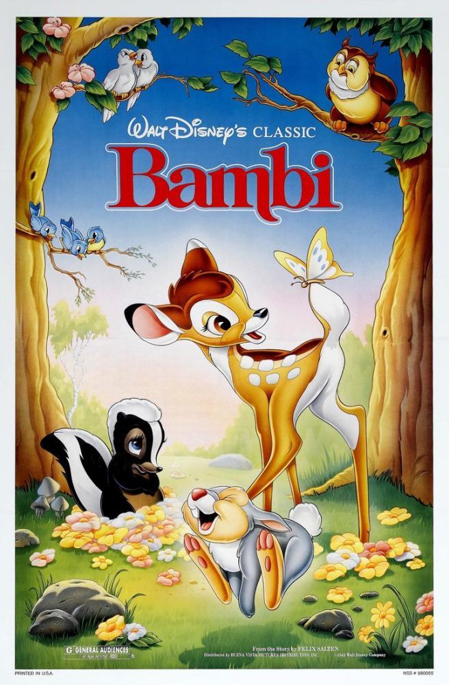 Bambi Movie Poster, Movie Poster, Poster Satış, all posters, kanvas tablo, canvas print sales