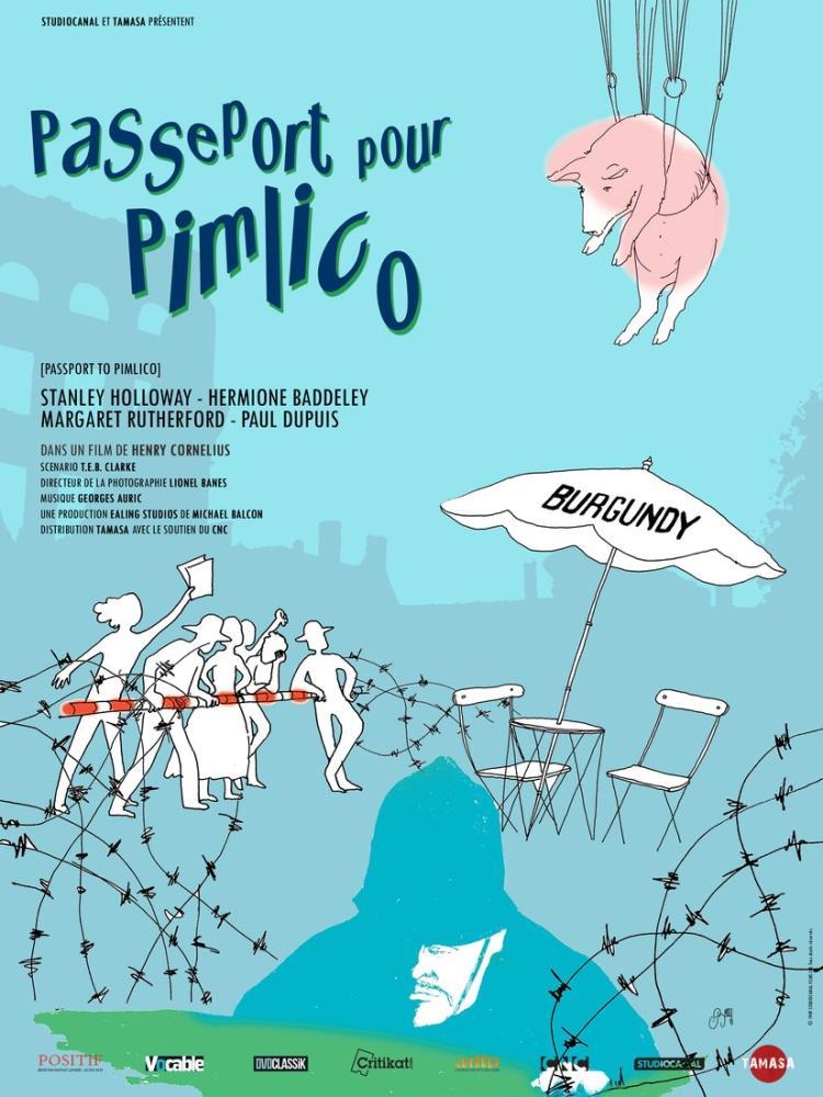 Passport to Pimlico Movie Poster, Movie Poster, Poster Satış, all posters, kanvas tablo, canvas print sales