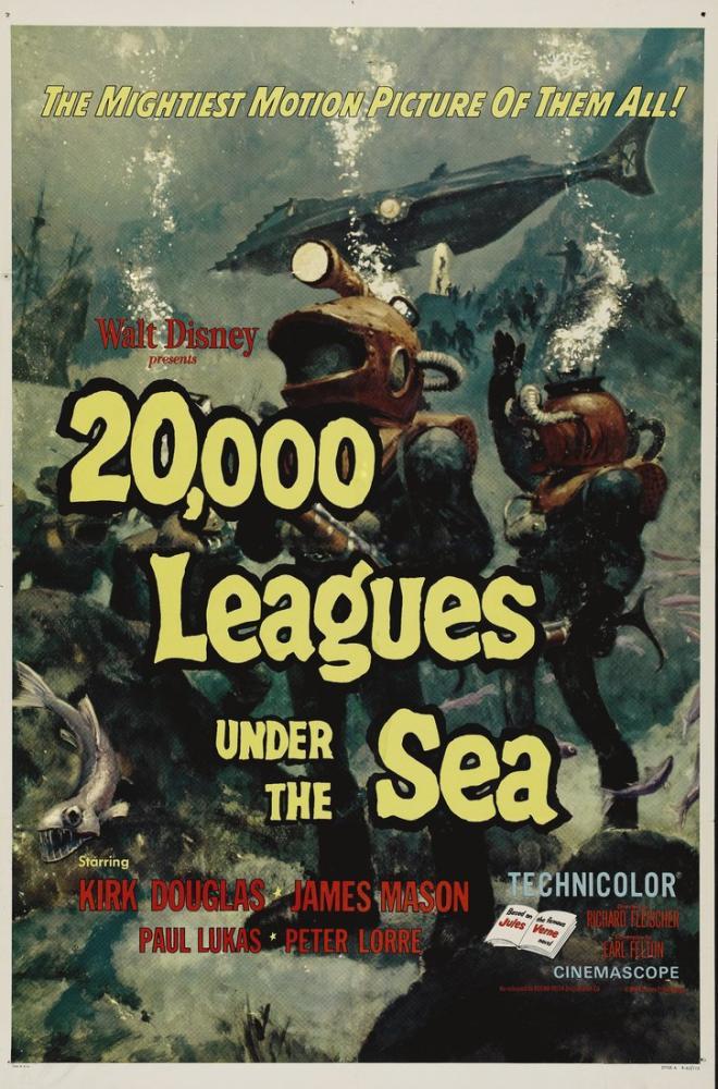 20000 Leagues Under the Sea Movie Poster, Movie Poster, Poster Satış, all posters, kanvas tablo, canvas print sales