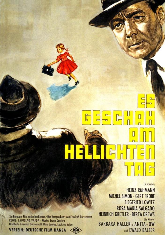 Es geschah am hellichten Tag Movie Poster, Movie Poster, Poster Satış, all posters, kanvas tablo, canvas print sales