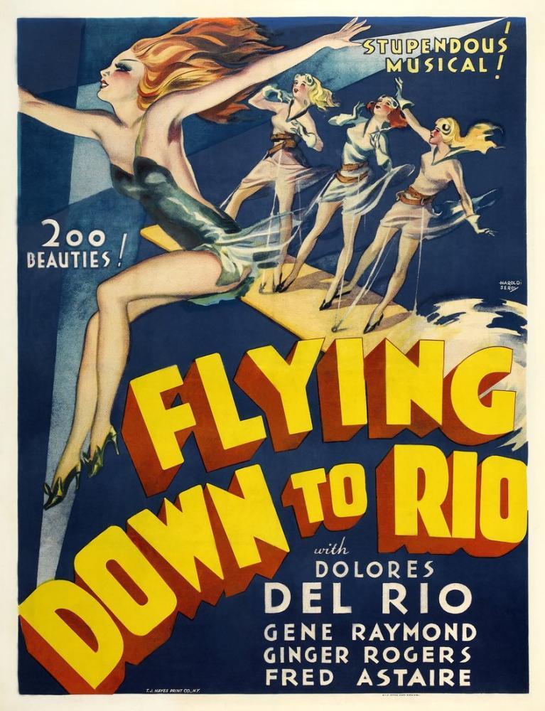 Flying Down to Rio Film Posteri, Film Posteri, Poster Satış, all posters, kanvas tablo, canvas print sales