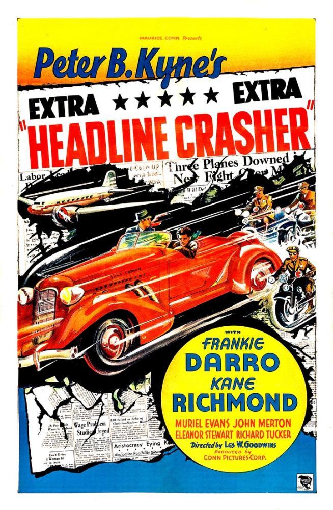 Headline Crasher Movie Poster, Movie Poster, Poster Satış, all posters, kanvas tablo, canvas print sales