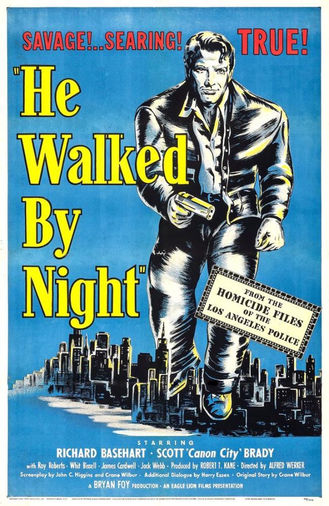 He Walked by Night Movie Poster, Movie Poster, Poster Satış, all posters, kanvas tablo, canvas print sales