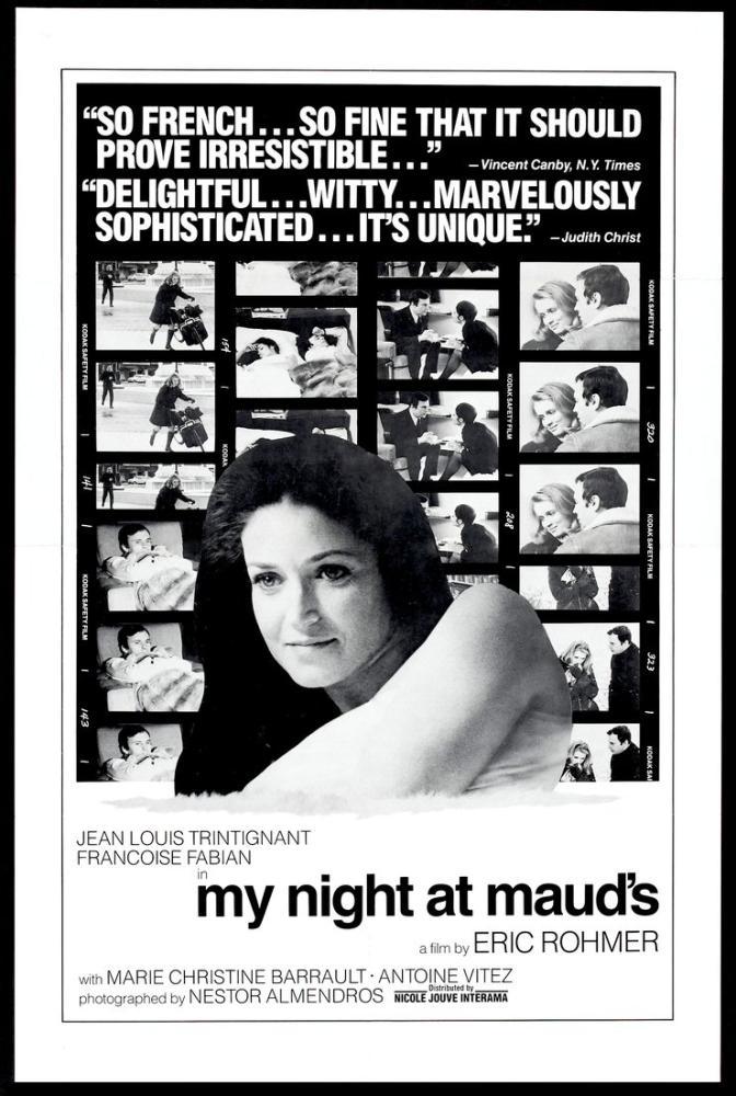 Maud'la Bir Gece Film Posteri, Film Posteri, Poster Satış, all posters, kanvas tablo, canvas print sales