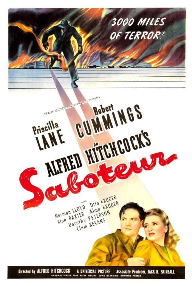 Saboteur Movie Poster, Movie Poster, Poster Satış, all posters, kanvas tablo, canvas print sales