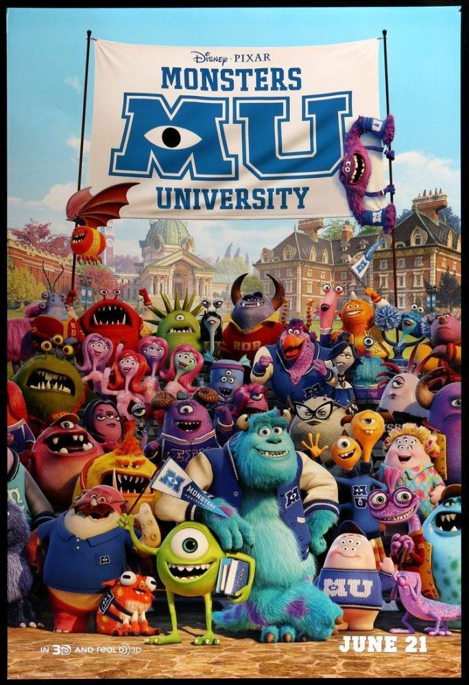 Monsters University Movie Poster, Movie Poster, Poster Satış, all posters, kanvas tablo, canvas print sales