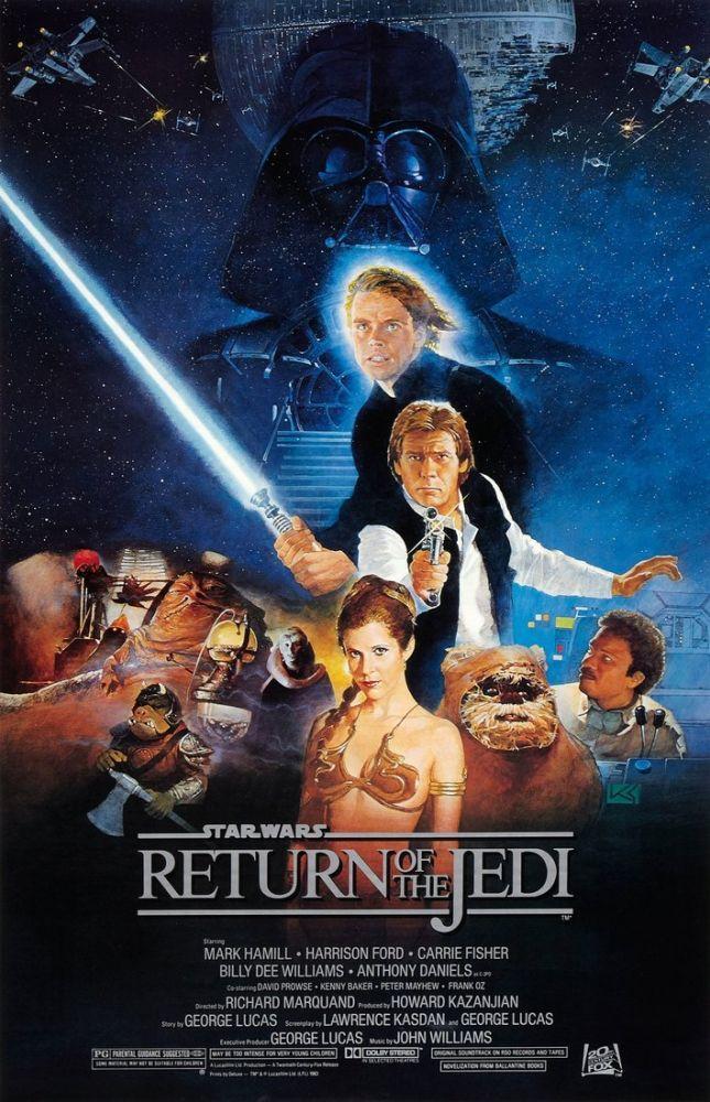 Star Wars Episode VI Return of the Jedi Movie Poster 2, Movie Poster, Poster Satış, all posters, kanvas tablo, canvas print sales