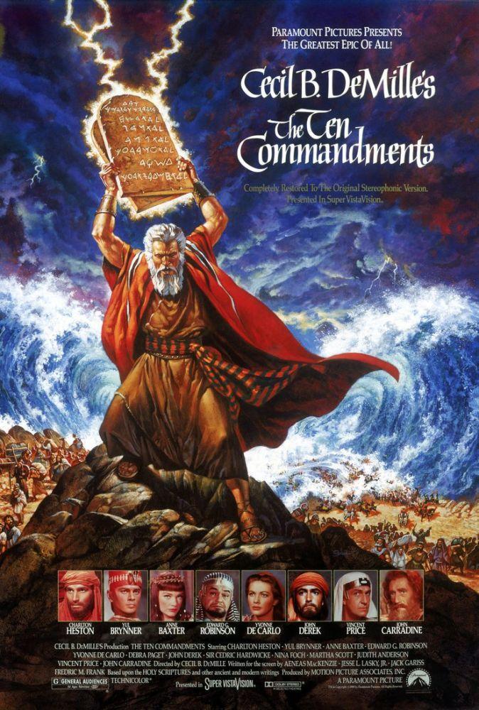 The Ten Commandments Movie Poster, Movie Poster, Poster Satış, all posters, kanvas tablo, canvas print sales