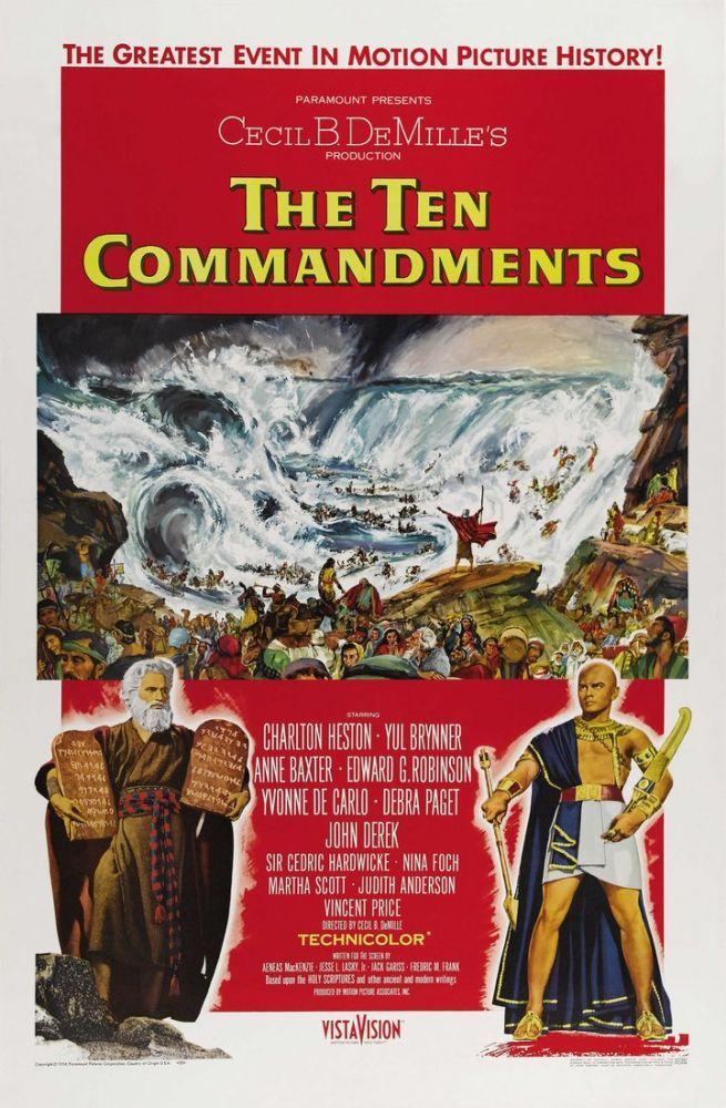 The Ten Commandments Movie Poster 2, Movie Poster, Poster Satış, all posters, kanvas tablo, canvas print sales
