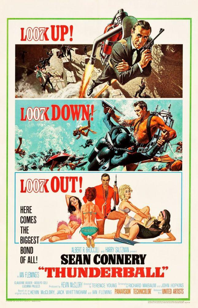 Thunderball Movie Poster, Movie Poster, Poster Satış, all posters, kanvas tablo, canvas print sales
