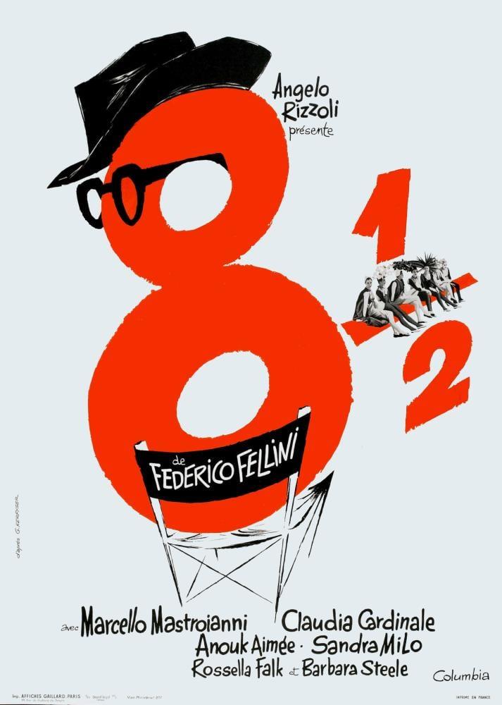 8 1/2 Film Posteri, Film Posteri, Poster Satış, all posters, kanvas tablo, canvas print sales