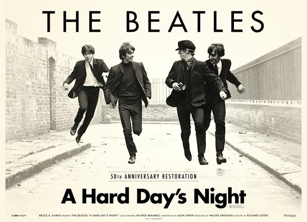 A Hard Day s Night Movie Poster 3, Movie Poster, Poster Satış, all posters, kanvas tablo, canvas print sales