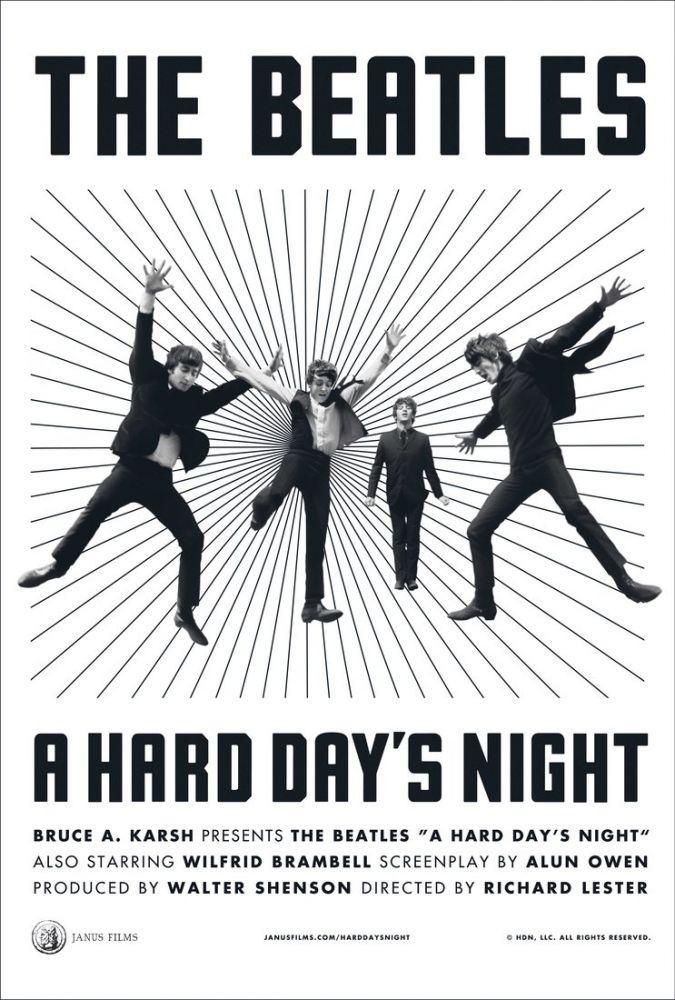 A Hard Day s Night Movie Poster 7, Movie Poster, Poster Satış, all posters, kanvas tablo, canvas print sales