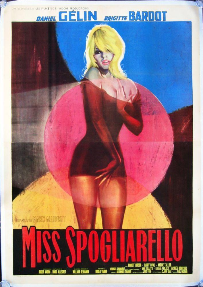 Striptiz Kraliçesi Brigitte Bardot Film Posteri, Film Posteri, Poster Satış, all posters, kanvas tablo, canvas print sales