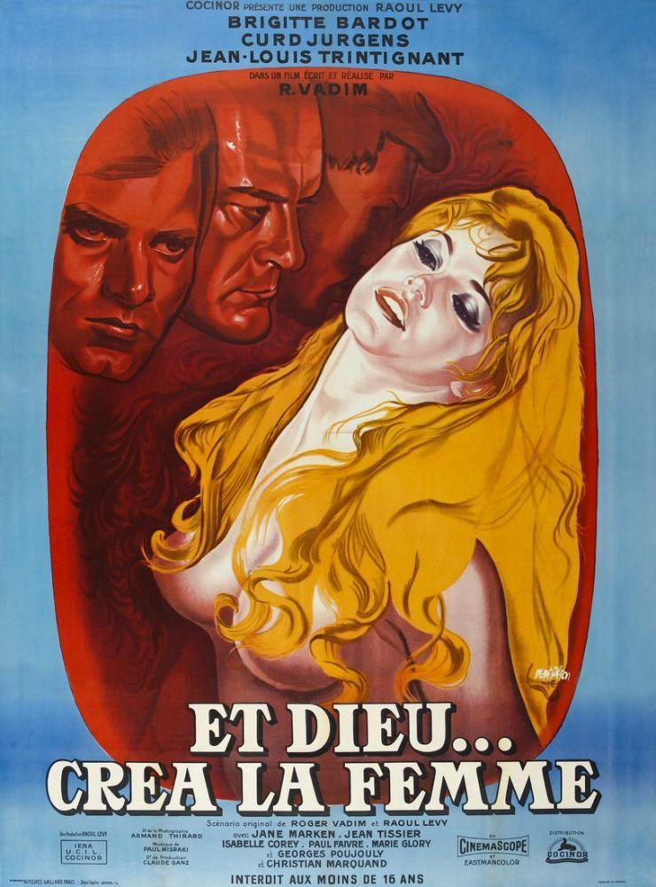 And God Created Woman Brigitte Bardot Movie Poster, Movie Poster, Poster Satış, all posters, kanvas tablo, canvas print sales