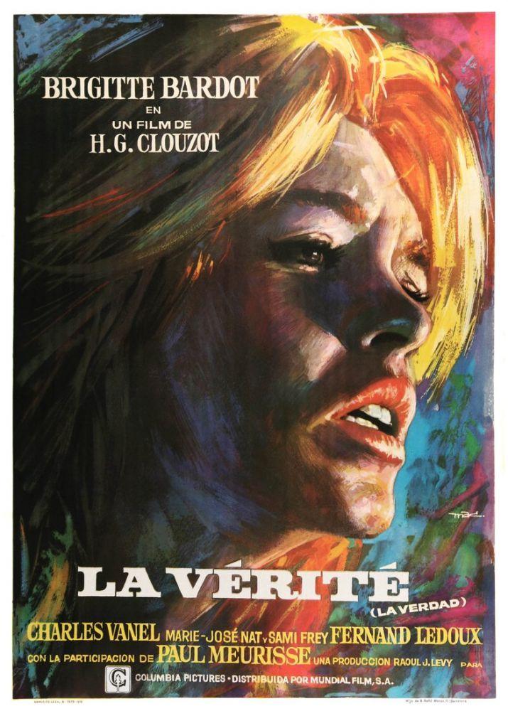 The Truth Brigitte Bardot Movie Poster, Movie Poster, Poster Satış, all posters, kanvas tablo, canvas print sales