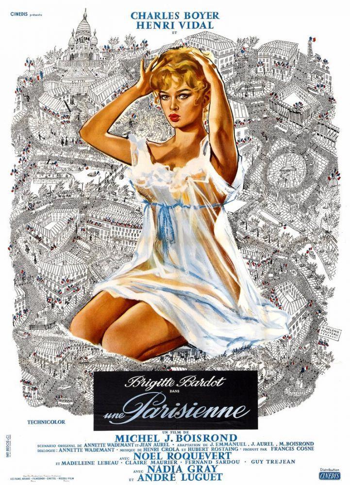 Parisli Kız Brigitte Bardot Film Posteri, Film Posteri, Poster Satış, all posters, kanvas tablo, canvas print sales