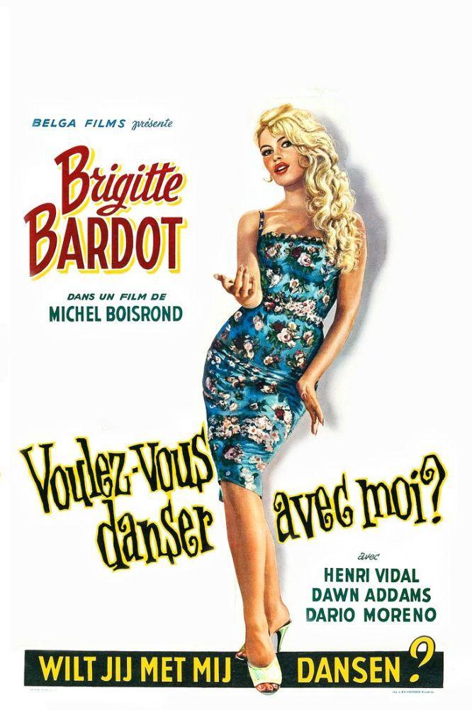 Do You Want to Dance with Me Brigitte Bardot Movie Poster, Movie Poster, Poster Satış, all posters, kanvas tablo, canvas print sales