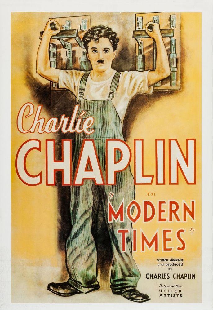 Modern Times Charlie Chaplin Movie Poster 2, Movie Poster, Poster Satış, all posters, kanvas tablo, canvas print sales