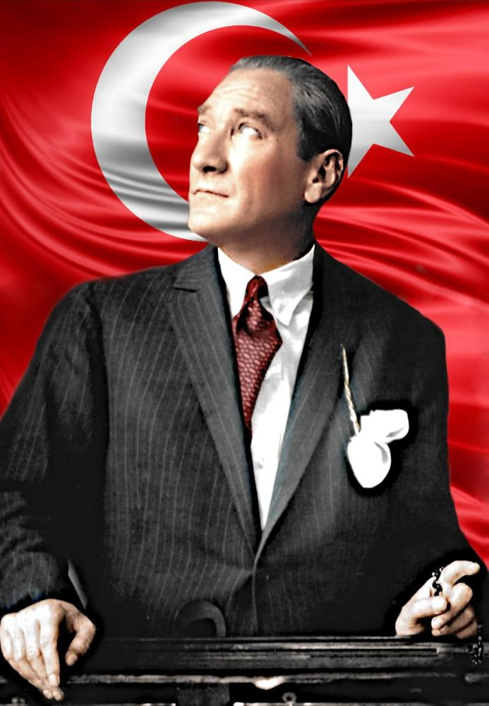 Mustafa Kemal Atatürk, Bayraklı Portre 5, Mustafa Kemal Atatürk, Poster Satış, all posters, kanvas tablo, canvas print sales