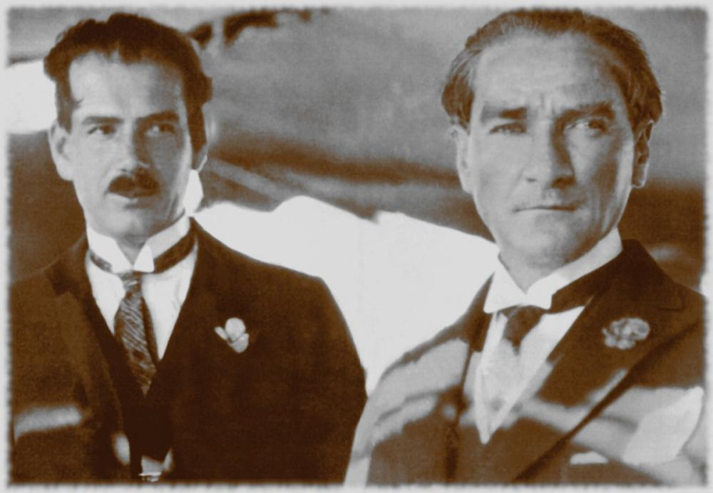 Mustafa Kemal Atatürk, Ruşen Eşref le, Mustafa Kemal Atatürk, Poster Satış, all posters, kanvas tablo, canvas print sales