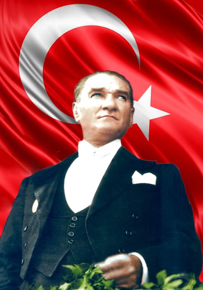 Mustafa Kemal Atatürk, Portrait of the Flag 40, Mustafa Kemal Atatürk, Poster Satış, all posters, kanvas tablo, canvas print sales