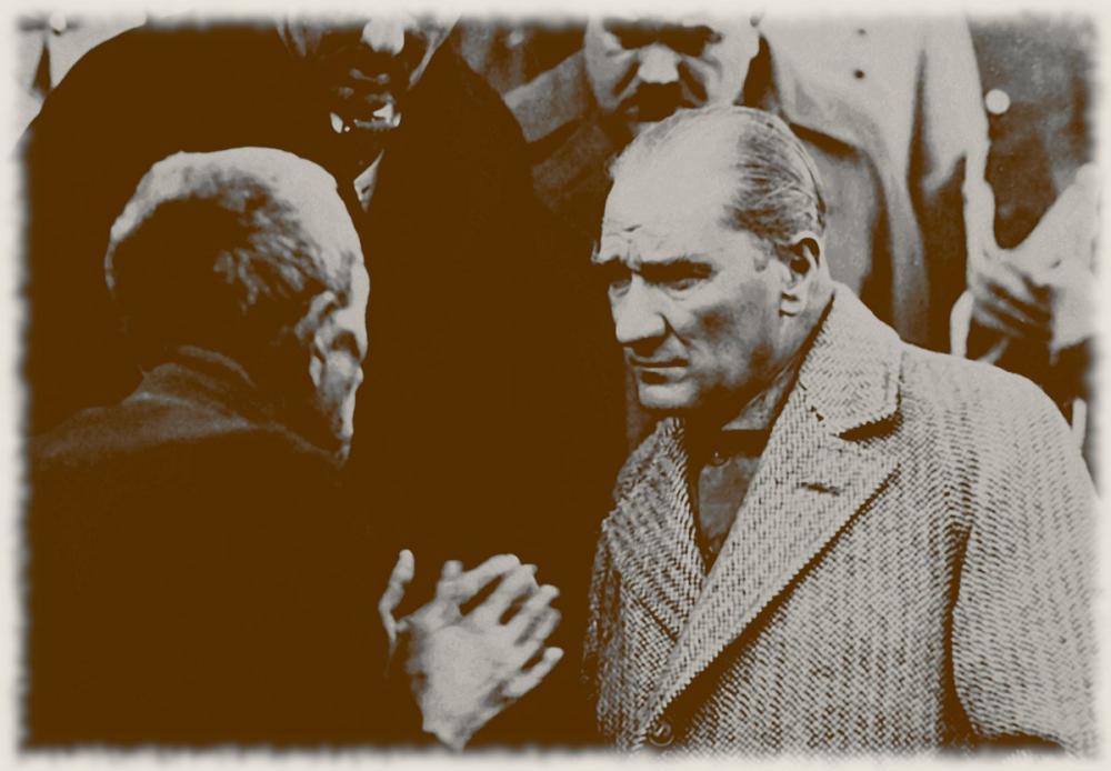 Mustafa Kemal Atatürk, Tokat ta Bir Vatandaşı Dinliyor 2, Mustafa Kemal Atatürk, Poster Satış, all posters, kanvas tablo, canvas print sales
