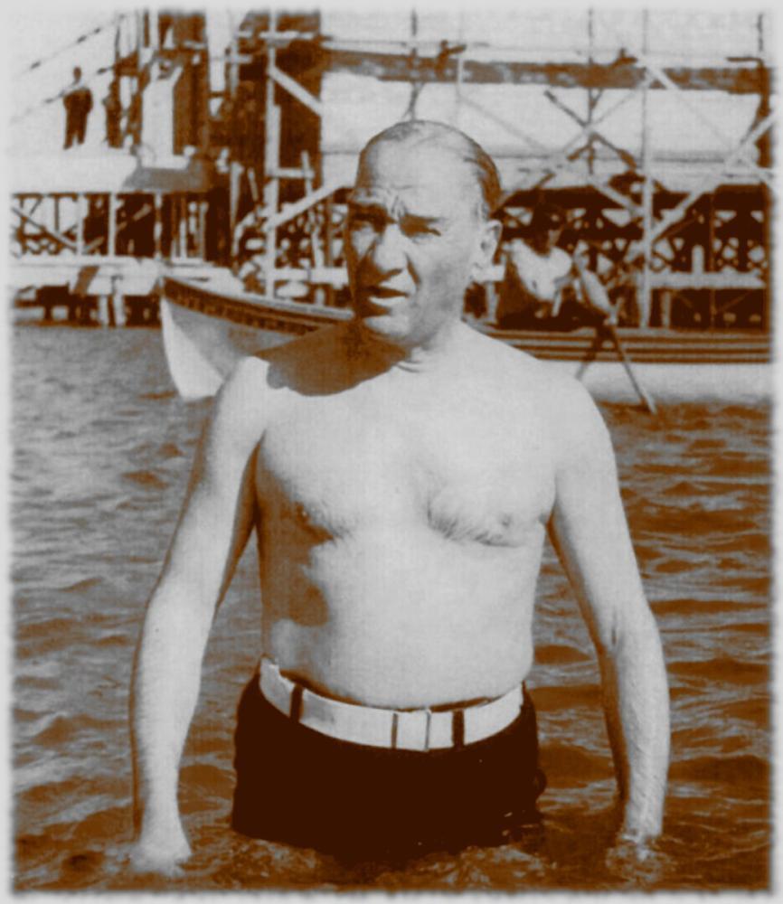 Mustafa Kemal Atatürk, Swimming, Mustafa Kemal Atatürk, Poster Satış, all posters, kanvas tablo, canvas print sales