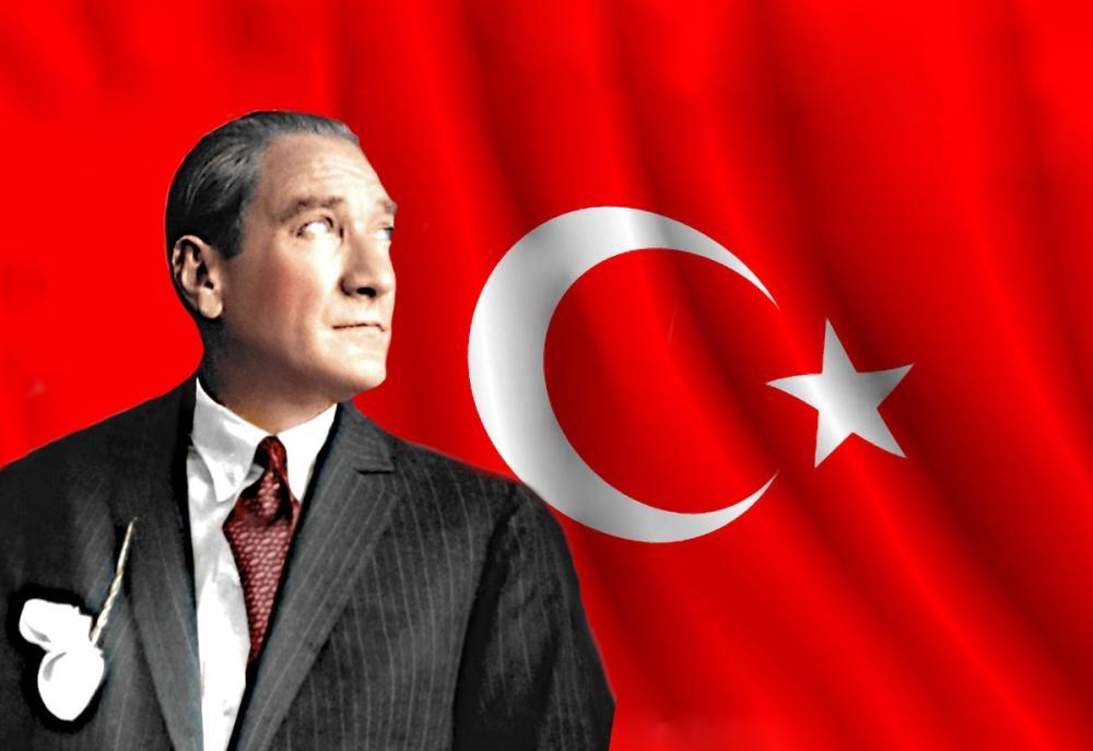 Mustafa Kemal Atatürk, Bayraklı Portre 41, Mustafa Kemal Atatürk, Poster Satış, all posters, kanvas tablo, canvas print sales