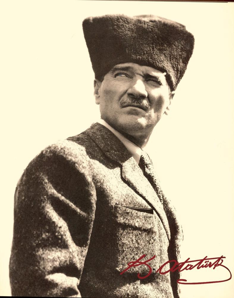 Mustafa Kemal Atatürk, Kalpaklı Portresi, İmzalı 31, Mustafa Kemal Atatürk, Poster Satış, all posters, kanvas tablo, canvas print sales