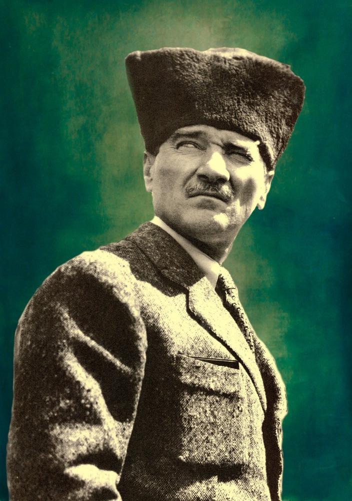Mustafa Kemal Atatürk, Portrait 1, Mustafa Kemal Atatürk, Poster Satış, all posters, kanvas tablo, canvas print sales
