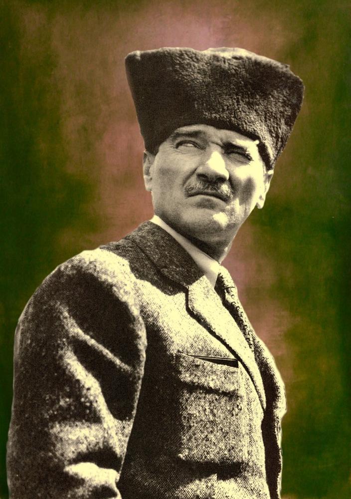 Mustafa Kemal Atatürk, Portre 9, Mustafa Kemal Atatürk, Poster Satış, all posters, kanvas tablo, canvas print sales