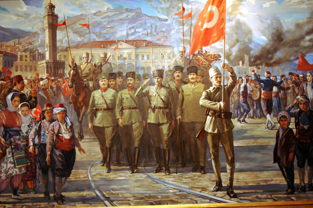 Mustafa Kemal Atatürk, The Liberation of Izmir, Mustafa Kemal Atatürk, Poster Satış, all posters, kanvas tablo, canvas print sales