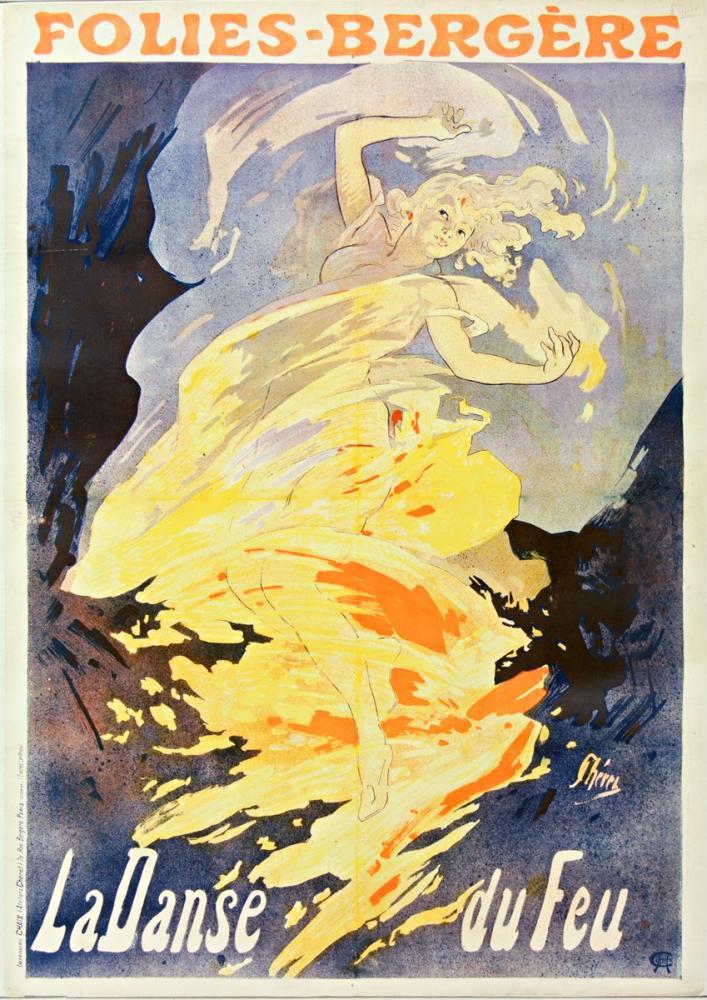 Folies Bergère Loïe Fuller 2 Poster, Opera, Theater, Poster Satış, all posters, kanvas tablo, canvas print sales