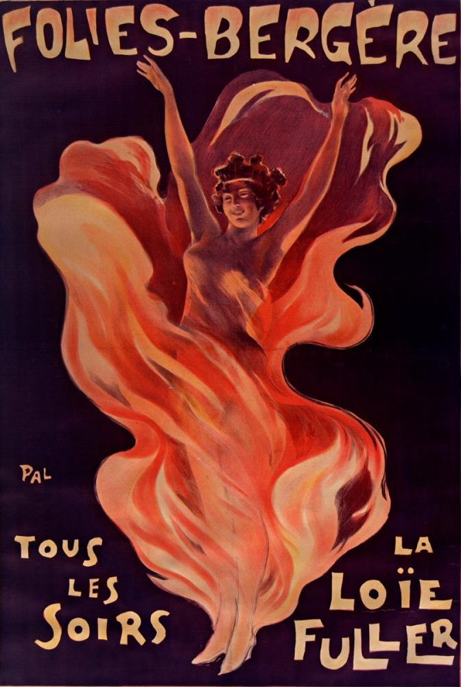 Folies Bergère Loïe Fuller 3 Posteri, Opera, Tiyatro, Poster Satış, all posters, kanvas tablo, canvas print sales