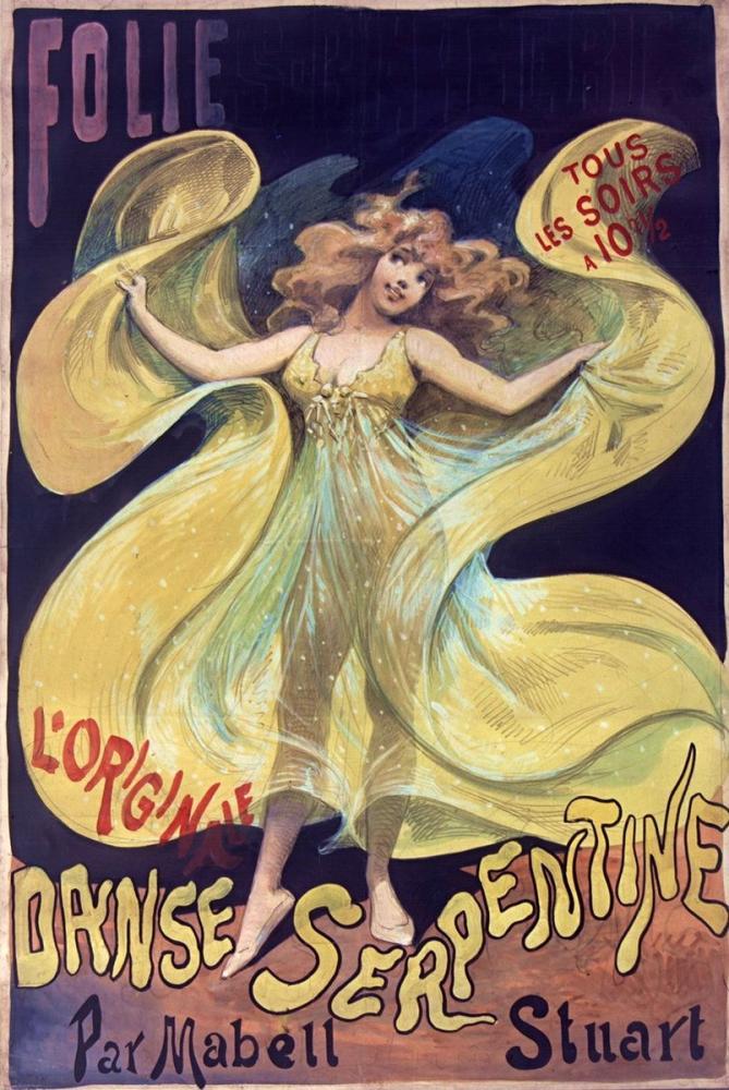 Folies Bergère, Mabell Stuart 1905 Posteri, Opera, Tiyatro, Poster Satış, all posters, kanvas tablo, canvas print sales