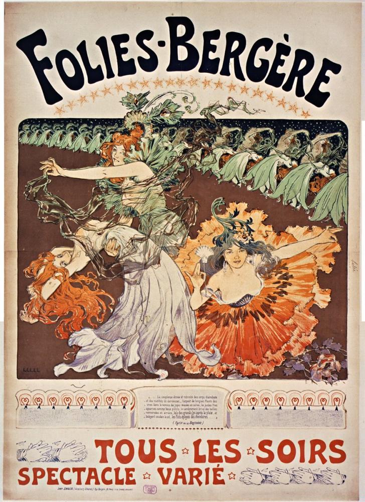 Folies Bergère, Tous Les Soirs Poster, Opera, Theater, Poster Satış, all posters, kanvas tablo, canvas print sales