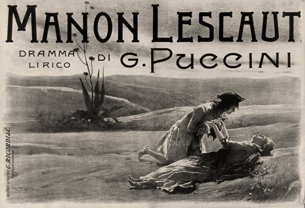 Giacomo Puccini, Manon Lescaut Opera Poster, Opera, Theater, Poster Satış, all posters, kanvas tablo, canvas print sales