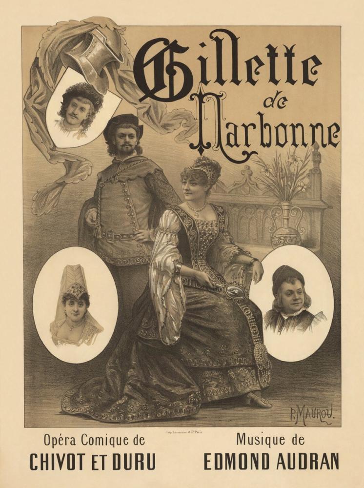 Gillette de Narbonne Opera Poster, Opera, Theater, Poster Satış, all posters, kanvas tablo, canvas print sales