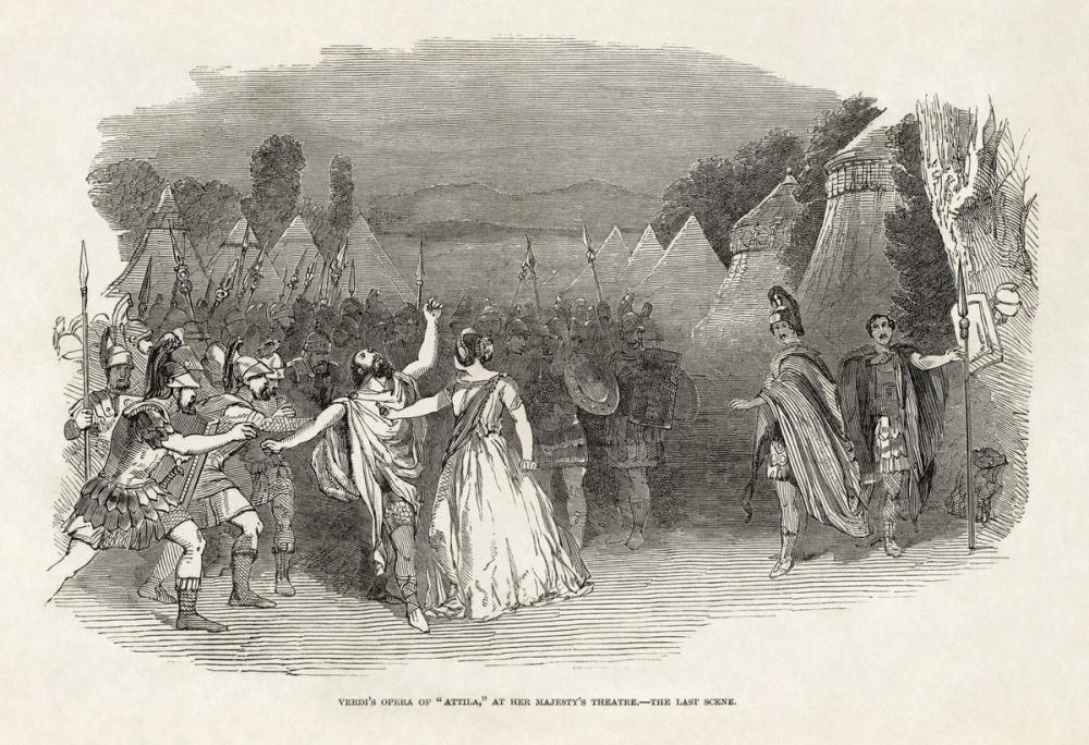 Giuseppe Verdi s Attila Opera Poster, Opera, Theater, Poster Satış, all posters, kanvas tablo, canvas print sales