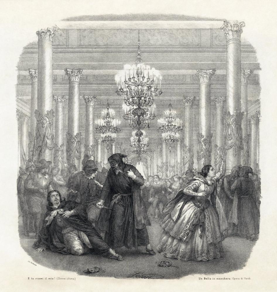 Giuseppe Verdi, Un Ballo in maschera Opera Poster, Opera, Theater, Poster Satış, all posters, kanvas tablo, canvas print sales