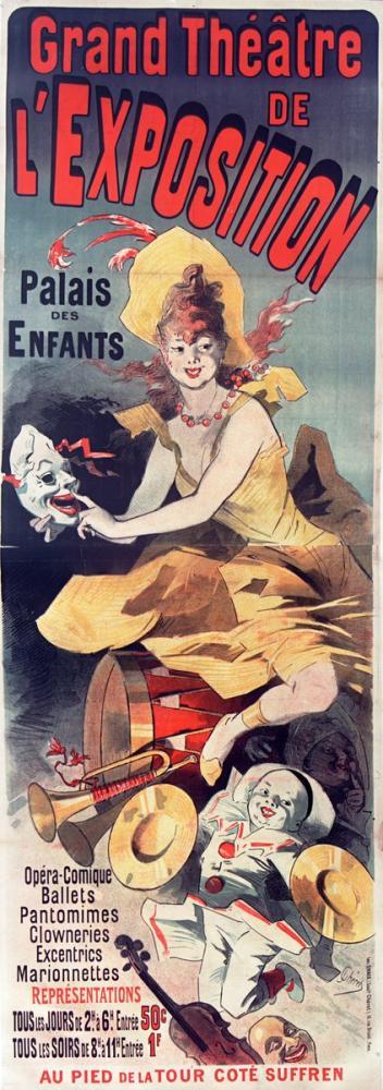 Grand Théâtre de l Exposition Palais des enfants Opera Poster, Opera, Theater, Poster Satış, all posters, kanvas tablo, canvas print sales